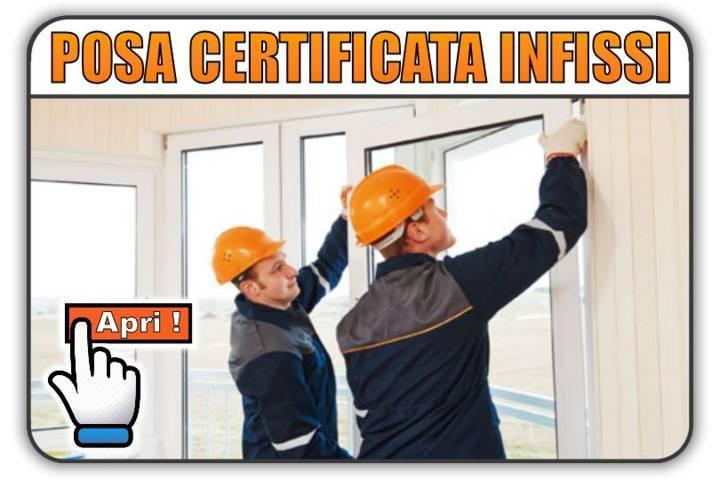posa certificata infissi Torino Finestre ®
