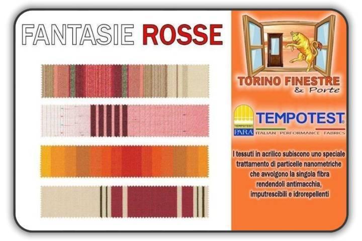 Tessuti Tempotest in Acrilico Rossi | Tende da Sole Torino