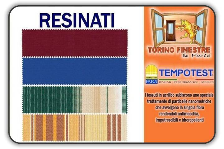 Tessuti Per Tende Da Sole Per Esterni Prezzi.Tessuti Tempotest Resinati In Acrilico Tende Da Sole Torino