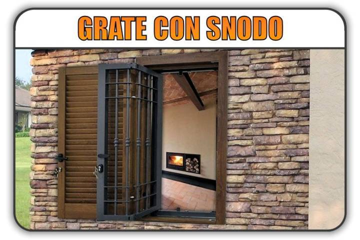 inferriate grate con snodo