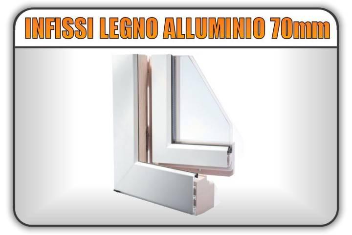 serramenti infissi legno lamellare alluminio 70 mm torino finestre