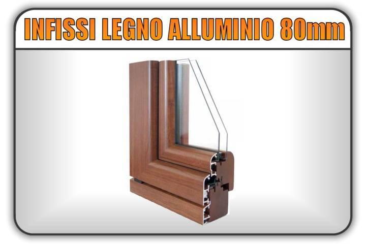 serramenti infissi legno lamellare alluminio 80 mm torino finestre