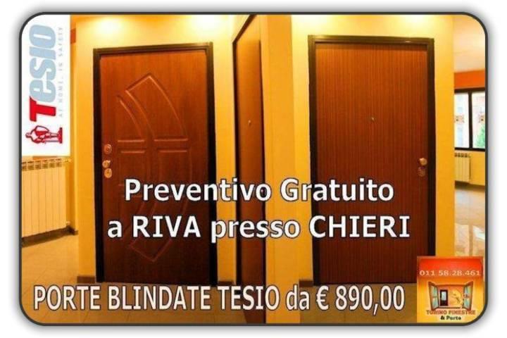 porte blindate tesio Riva presso Chieri