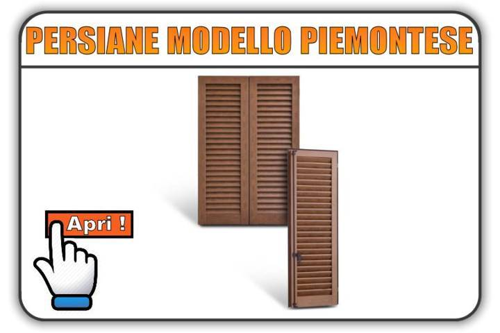Persiane modello Piemontese Torino