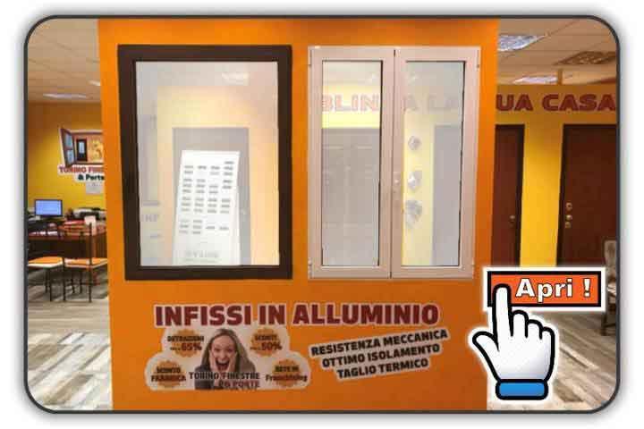 infissi in alluminio showroom torino finestre